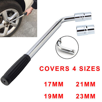 4 Sizes 17 19 21 23mm Extendable Wheel Telescopic Car Van Socket Tyre Wrench UK