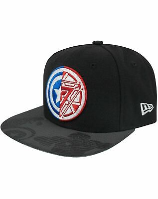 New Era 9Fifty Captain America Civil War Logo Viza Print Snapback Cap