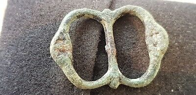 Nice post Medieval copper alloy buckle L65d