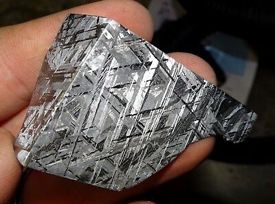 Beautiful 130 Gm Etched Gibeon Meteorite Quad Cut From Namibia