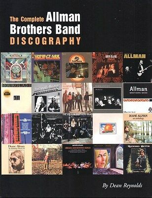 The Complete Allman Brothers Band Discography Book  Brand New   Limited Printing