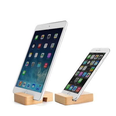 Universal Wooden Mobile Phone/Tablet Desk Stand Holder - Samsung iPhone Htc