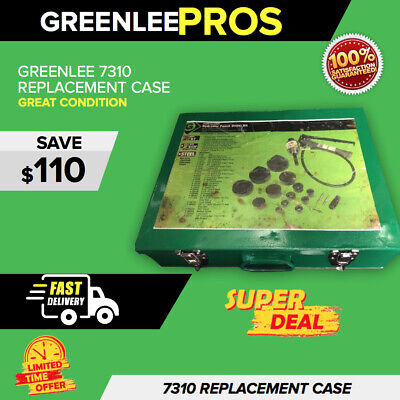 """Greenlee 7310 Original Replacement Case (1/2"""" - 4"""") Preowned, Fast Shipping"""