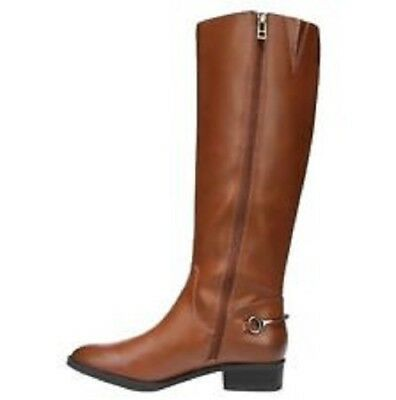 NEW SAM & LIBBY Perry Womens Knee High Boots Riding Boot Cognac Brown FREE SHIP