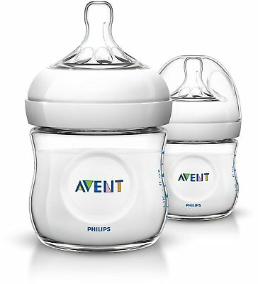 Philips Avent SCF690/27 Natural Newborn 125ml Feeding Bottle, 2 Bottles