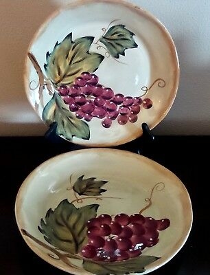 2 TABLETOPS GALLERY Los Colores Dinner Plates 11\