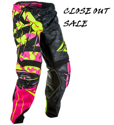 2018 Fly Racing Kinetic Outlaw MX ATV Pant and Jersey Combo - Neon Pink/Black