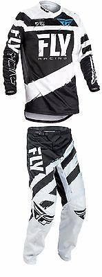 2018 Fly Racing F-16 MX ATV Pant and Jersey Combo - Black/White