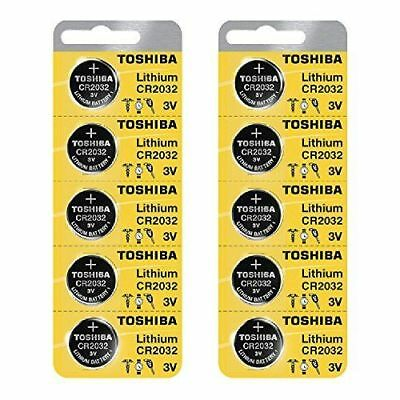 Toshiba Genuine Fresh Date CR2032 2032 Lithium 3V Batteries Exp 2025 (10 pieces)