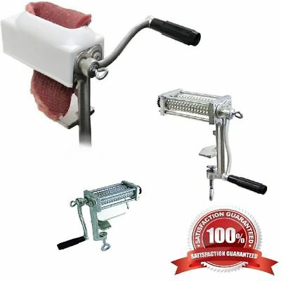 Tenderize Slabs Meat Tenderizer Mallet Pounder Geared Teeth Hand Powered Tool