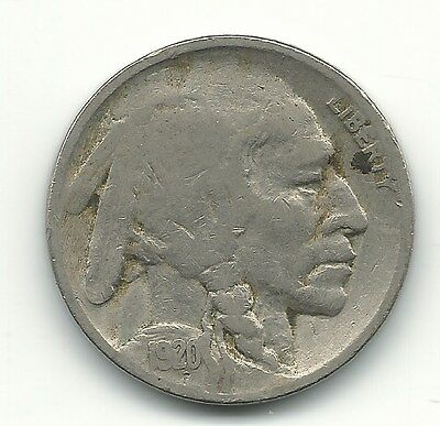 A Vintage Fine Condition 1920 P Buffalo Nickel Coin-Old Us Coin-Jul140