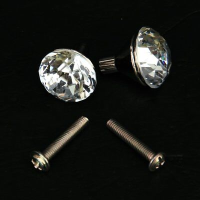 2x Zinc Alloy Small Crystal Drawer Knob Pull Handle TS