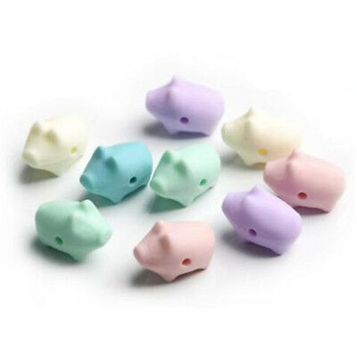 Cute Pig Silicone Beads Food Grade Baby Teether Making Teething Jewelry BPA Free
