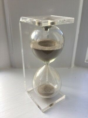 Vintage 1970's Acrylic Hour Glass Timer Kitchenalia Space Age Mid Century