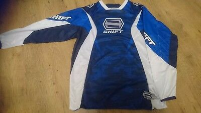 Shift Faction  Motocross Jersey Top Clothing Blue And White Size Xl Extra Large