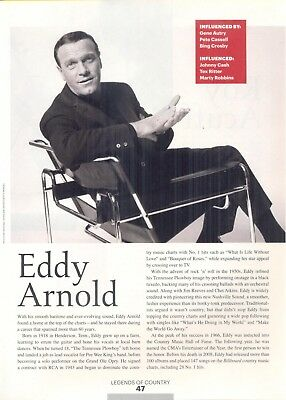 "Eddy Arnold, Country Music Star in 2014 Magazine Print Photo Article. ""Pioneers"""
