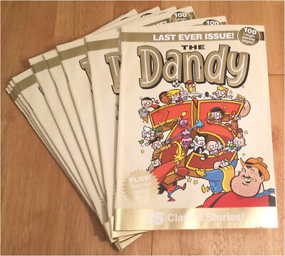 The Dandy Last Issue Ltd Gold Edition Feat Sir Paul McCartney Comic Stip Beatles