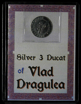 Vlad Dracula Transylvania 3 Ducat Silver .999 Fantasy Coin in Holder