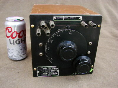 *Vintage *USA* GR General Radio Co. Variable Inductor Type: 107-L Wood Cabinet