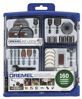 Allpurpose Rotary Accessory Kit Dremel 71008 160piece Grinding Polishing Cutting