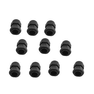 10x Plastic Waterproof Cable Connector Gland PG11 5mm- 10mm Dia Electrician Plug