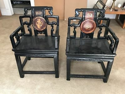 Rare Antique Chinese Wood Armchairs