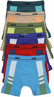 ToBeInStyle Boys' Pack of 6 Cotton Boxer Briefs