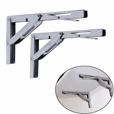 Stainless Steel Folding Bench Shelf Table Bracket 250kg Long Release Arm Heavy D