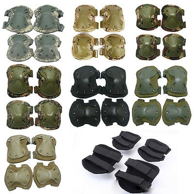 Protective Tactical Military Paintball Skate Cycle Elbow Knee Pad Airsoft Combat