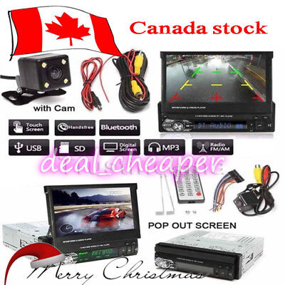 "1 DIN Single 7""HD Touch Screen Car MP5 DVD Player Bluetooth Radio+Camera CA!"