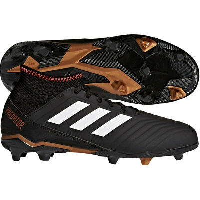 adidas Predator 18.3 FG 2018 Soccer Cleats Shoes Black   Gold Kids - Youth . 15fc47a8c