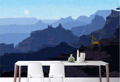 Distant Misty Hills 3D Full Wall Mural Photo Wallpaper Printing Home Kids Decor