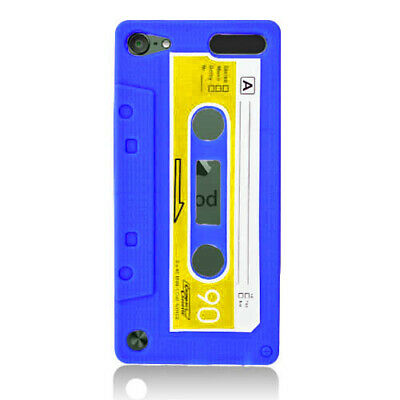 iPod Touch 5th 6th Generation - Tape Pattern Silicon Skin Case Cover Blue 02