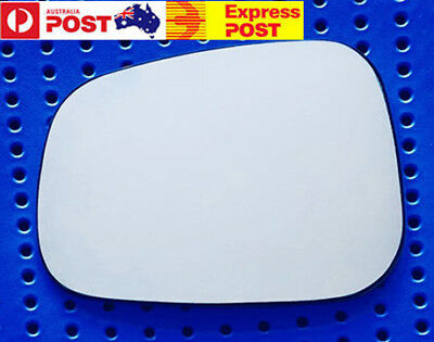 Left side mirror glass for SUZUKI SWIFT 2005-2009 Convex Heated (Round Clips)
