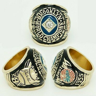 Hot Sale New 1955 Brooklyn Dodgers World Series Championship Ring Size 11