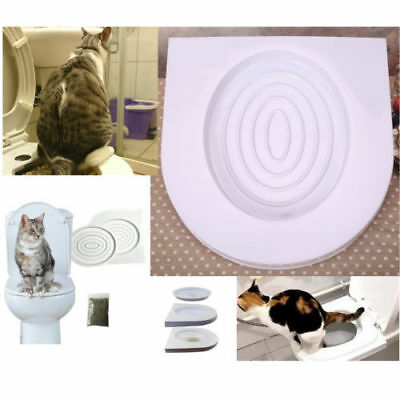 Cat Toilet Training Seat Litter Tray Kit Potty Train System for Pet Xmas Gift