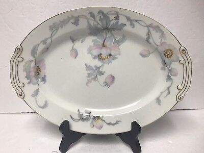 """Kongo CHINA STS Monmouth Hand-painted  Oval 12"""" X 8 3/4"""" Serving Platter Japan"""