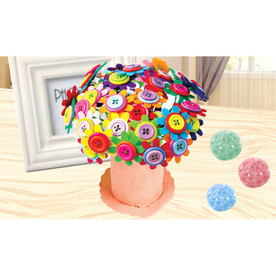 DIY Flower Button Toy Creative Artificial Bouquet Puzzle Kid Craft Handmade Gift