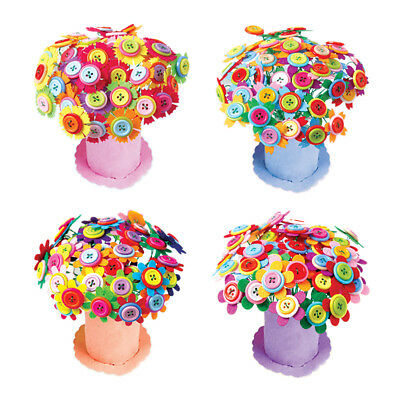 DIY Flower Button Toy Creative Artificial Bouquet Puzzle Kid Crafts Handmade Pop