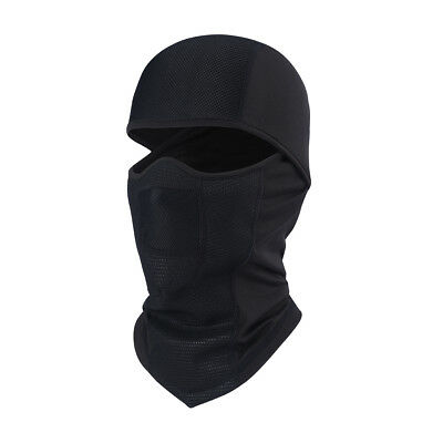 Thermal Fleece Neck Warmer Full Face winter Mask Ski Motorcycle Balaclava Black