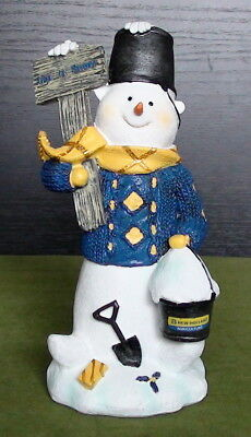 """New Holland """"Let It Snow"""" Snowman Figure Height 22Cm By Speccast Nib"""