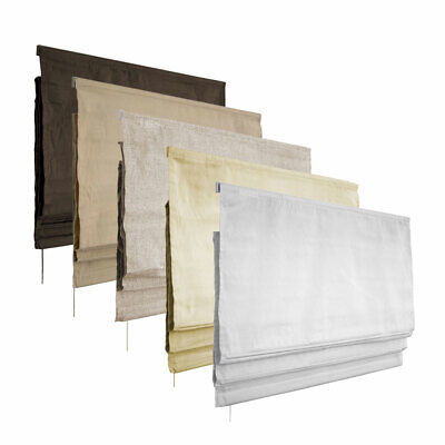 Roman Blinds Many Sizes and 5 Colours Washable Quality Italian Fabric Complete