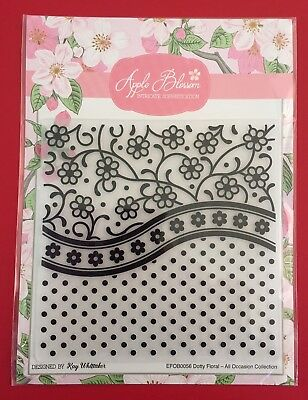 NEW• All-Occasion DOTTY FLORAL That Embossing Folder