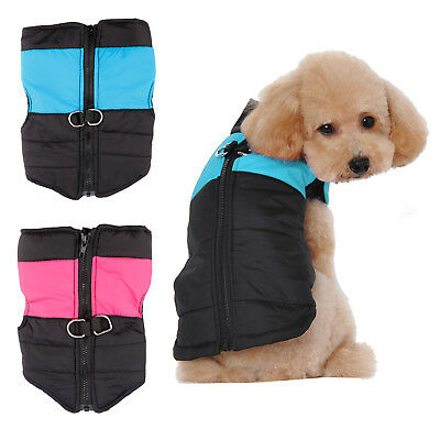 Dog Puppy Pet Cat Warm Insulated Padded Coat Thick Winter Puffer Jacket Clothes