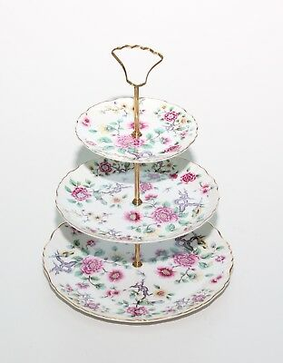 James Kent Old Foley Chinese Rose, 3 Tier Cake Stand.