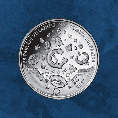 Lettland - Smith forges in the sky - 5 Euro 2017 PP Silber