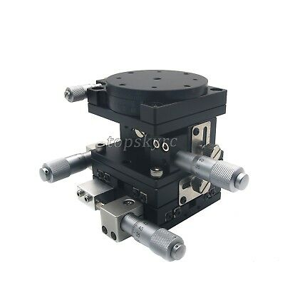 4-axis Trimming Platform Cross Slide Guide Rail Manual Linear Stages Slipway