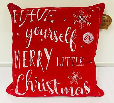 Luxury LED Light Up Christmas Cushion Pillow - Have Yourself A Merry Little Chri