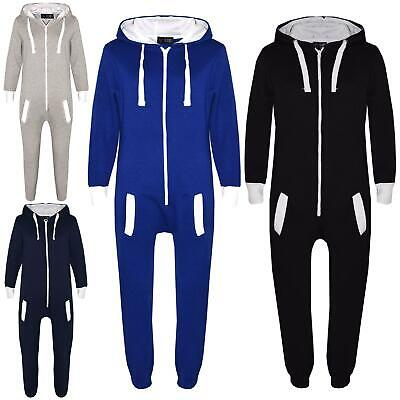 Kids Girls Boys Fleece A2Z Onesie One Piece All In One Jumpsuit Playsuit 7-13 Yr
