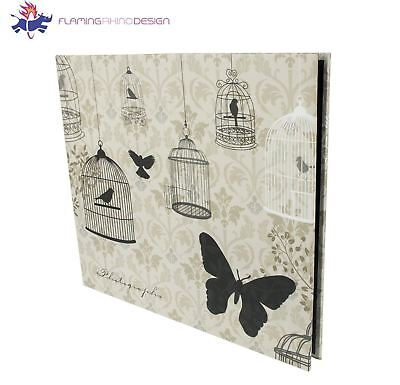 Flaming Rhino Design Slip-in 160 Photo Album Cream & Black Birds